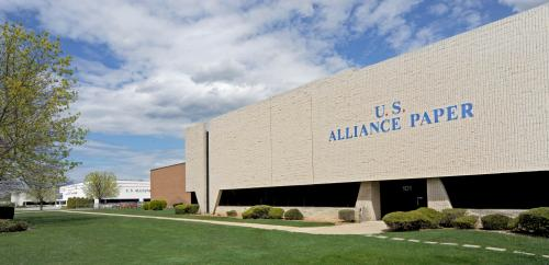 U.S. Alliance Paper plant and adjacent warehousing, Long Island, NY