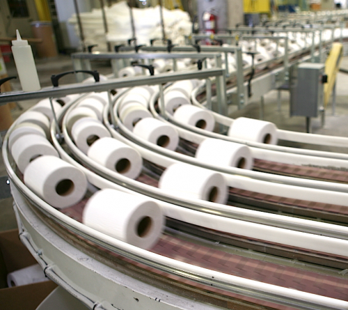 U.S. Alliance Paper's fully automated conveying lines.